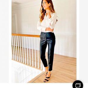 NWT High Waisted Black Vegan Leather Pants Size 10